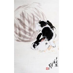 C165  刘继卣《双兔》