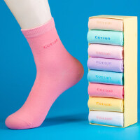 袜子女士纯棉中筒袜韩版女袜学院风日系棉袜全棉长袜
