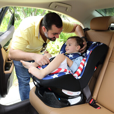宝童安汽车宝宝婴儿车载简易儿童安全座椅可坐可躺双向0-6岁坐躺4档随意调节