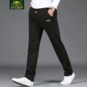 AFS JEEP战地吉普 2017冬季新品卫裤男加绒男士运动休闲卫裤男裤子F1765加绒