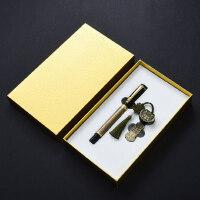 复古典中国风青铜签字笔金属创意16gu盘两件套装 高档送男士女士圣诞节礼物 公司会议年会礼品定制logo刻字