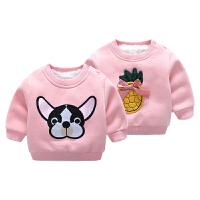 男童婴儿加厚卫衣冬装宝宝儿童童装上衣女童秋冬装小童加绒打底衫