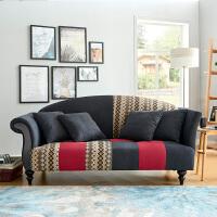 法式田园布艺小户型北欧小美式时尚客厅卧室简约双人三人转角沙发