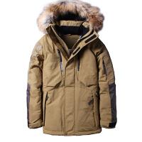 东北雪乡新款户外加厚羽绒服男士冬装大毛领登山滑雪服外套潮新品