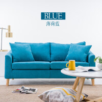 北欧沙发小户型客厅简约布艺单人沙发双人简易服装店小沙发网红款
