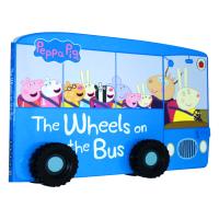 小猪佩琪英文原版 Peppa Pig The Wheels on the Bus 纸板书 英文版儿歌童谣绘本游戏 廖彩