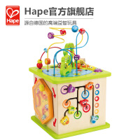 Hape开心农场游戏盒1-6岁多功能游戏盒宝宝益智串珠绕珠婴幼玩具木制玩具E1810