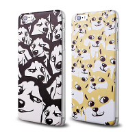 【全国包邮】hidog 苹果iPhone6手机壳4.7卡通磨砂6plus外壳浮雕5s保护套男女薄