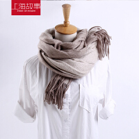 上海故事围巾女冬季春秋韩版新款加厚山羊绒双面围巾围脖百变大披肩
