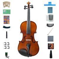 Saysn思雅晨考级 初学入门 练习 演奏哑光小提琴儿童成年人乐器虎纹背板V-008配肩托 四分之一二三四系列