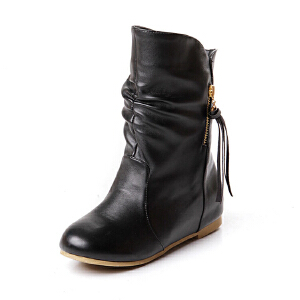 ELEISE美国艾蕾莎新品秋冬179-A-2甜美超纤皮平跟女士短靴