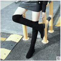 过膝长靴女秋冬季新款百搭韩版骑士靴5050弹力显瘦瘦高筒靴女