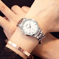 韩版简约时尚手表女中学生夜光休闲大气石英男表情侣手表