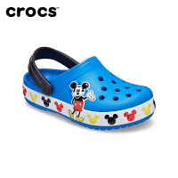 Crocs男童鞋卡骆驰新款夏迪士尼联名米奇儿童凉鞋洞洞鞋 206307 趣味学院迪士尼米奇儿童卡骆班小克骆格