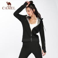 camel骆驼新款秋季运动暴汗服女长袖收腹跑步外套出汗健身训练上衣