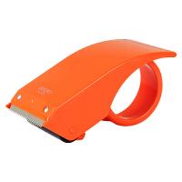 得力802 金属封箱器/打包器/胶带底座/胶带切割器 不锈钢刀口 颜色随机