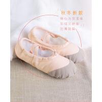 儿童加绒舞蹈鞋 加厚芭蕾舞鞋体操鞋女孩跳舞鞋子软底练功鞋