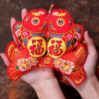 新年创意挂饰福鱼挂红灯笼春节过年元旦幼儿园装饰品会场布置用品