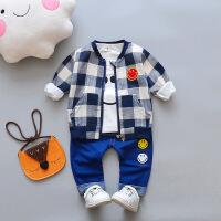 201春款男童洋气时尚套装宝宝春装小童婴儿衣服韩版潮1-3岁三件套