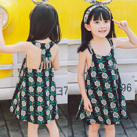 儿童女童背心连衣裙夏季韩版小女孩公主裙2018夏装新款D822 GG O