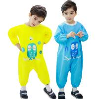 儿童罩衣画画衣小孩吃饭反穿衣宝宝围兜婴儿爬行连体罩衣