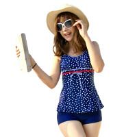 游泳衣 女分体平角 泳衣 大码保守遮肚显瘦泳衣温泉泳装