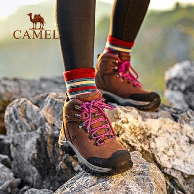【满259减200元】camel骆驼户外登山鞋男女防水防滑耐磨高帮系带徒步鞋