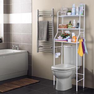 物有物语 置物架 家居日用大容量收纳架三层落地壁挂马桶架浴室洗手间免打孔架子简约加粗卫浴用品
