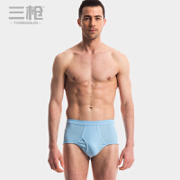 三枪 内裤男 男士内裤正品纯棉罗纹中高腰弹力全棉三角裤