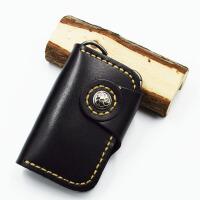 多功能男女通用头层牛皮植鞣皮真皮树膏皮纯皮家车钥匙包银行卡位