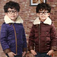 棉衣男童外套冬装男孩男宝宝2018童装新款棉袄韩版潮B952
