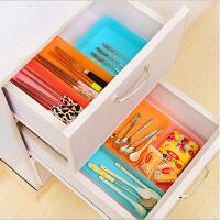 炫彩抽屉多用整理盒 创意餐具收纳盒杂物小物储存盒 中号橙色