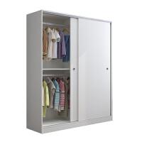 衣柜推拉门实木质卧室板式衣柜移门简约现代经济型2门大衣橱 2门