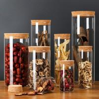 软木塞玻璃密封罐储物收纳罐茶叶罐密封罐65*150软木塞约410ML玻璃瓶
