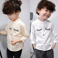 *男童白衬衫儿童长袖衬衣宝宝上衣韩版打底衫2018春装新款