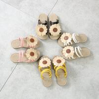 儿童拖鞋女童鞋子公主2018夏季新款花朵一字拖凉鞋宝宝女童凉拖鞋