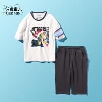 【3折价:59.7】小虎宝儿童装男童夏装2019新款儿童纯棉短袖t恤运动套装两件套潮