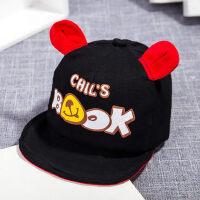儿童遮阳帽鸭舌帽男孩棒球帽潮0-3岁软沿宝宝帽子女童
