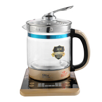 先科(SAST)养生壶 煮茶器 煮茶壶 烧水壶 电热水壶 加厚玻璃花茶壶1.5L 带滤网 玫瑰金 玫瑰紫 XH-802D
