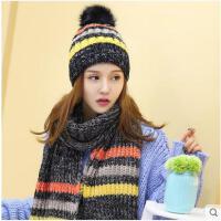冬季韩版潮时尚针织帽子女冬天冬季护耳帽保暖毛线帽子