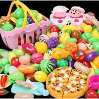 可切水果�和�玩具女孩蔬菜切切�诽籽b�����^家家�N房做��N具