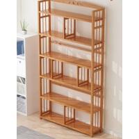 【满减优惠】书架置物架落地简易收纳实木儿童桌上省空间家用楠竹简约学生书柜