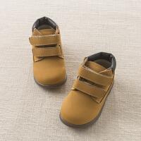 戴维贝拉春宝宝鞋子 男童牛皮革真皮皮鞋