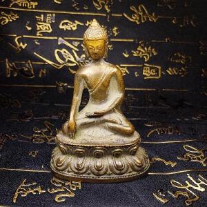 黄铜小佛人摆件