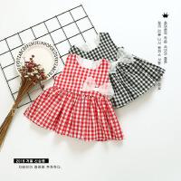 女童超洋�獗承娜古�����公主裙女孩���胗�哼B衣裙夏�b0潮1-3�q