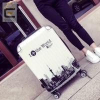 拉杆箱旅行箱行李箱涂鸦旅行印章箱包飞机登机箱密码箱硬箱