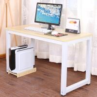 电脑桌简约现代办公职员桌台式家用笔记本双人单人写字台钢木书桌