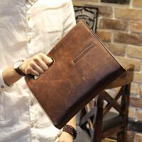男士斜挎包包手提包复古包斜跨韩版包商务休闲男包单肩包 咖啡色