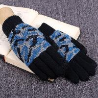 男士手套冬季保暖骑车款加绒毛线学生棉手套男冬加厚保暖