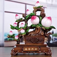 寿桃摆件大号工艺品 送老人送长辈贺寿祝寿生日实用吉祥装饰礼品